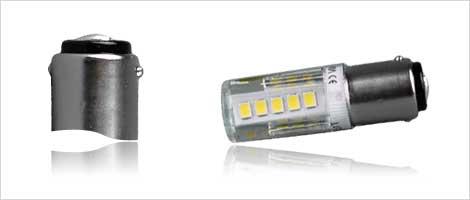 Light bulb with BA15d socket