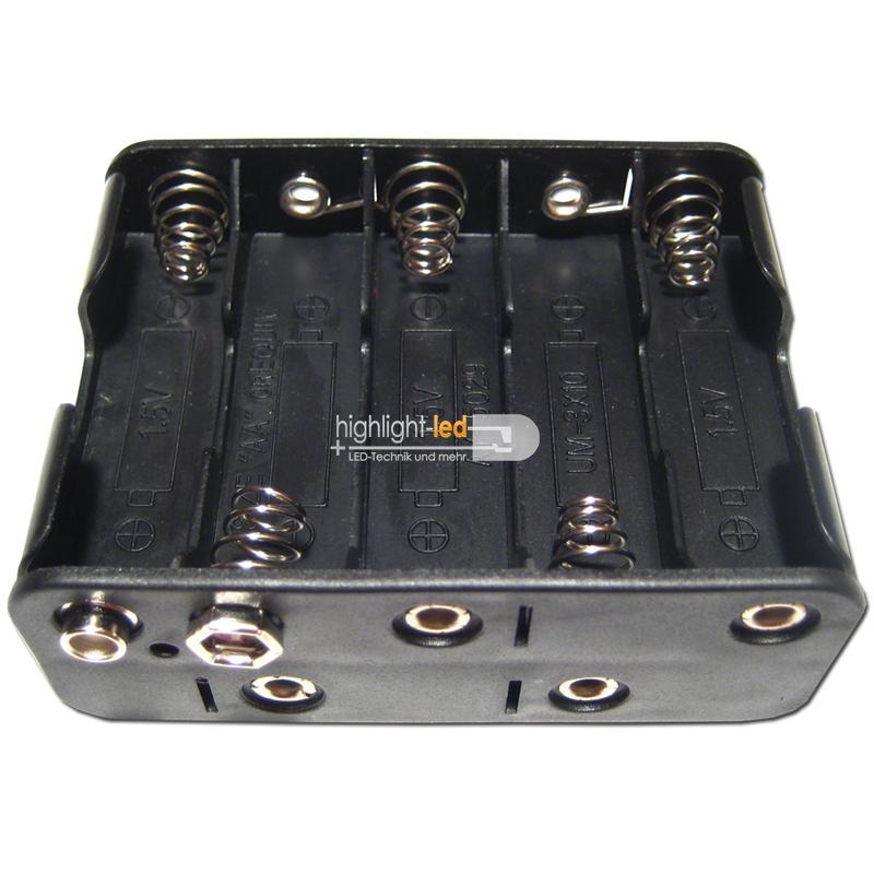Batteriehalter Batteriefach 2x AA Mignon Batterien mit 9V Clip Anschluss