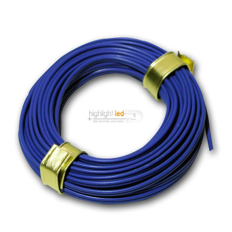 5m Zwillingslitze 0,14mm² Kupferlitze blau Kabel