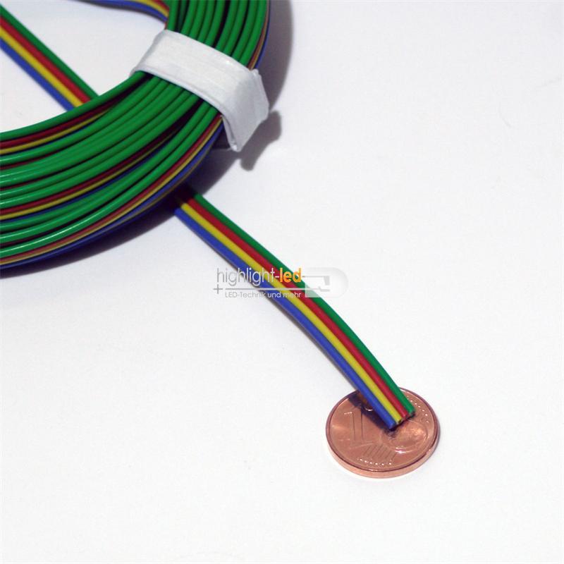 5m Kupferlitze 4-adrig 0,14mm² Kabel ideal RGB