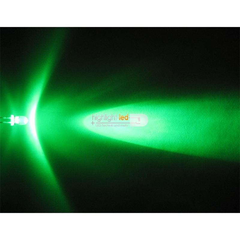 "20 LEDs wasserklar 5mm grün Typ ""WTN-5-8000gr"""