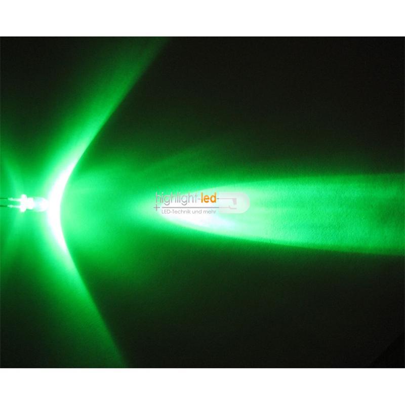 "20 LEDs 5mm wasserklar grün Typ ""WTN-5-13000gr"""