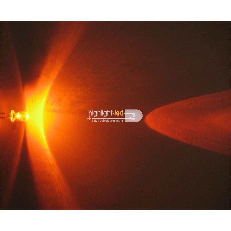 "20 LEDs 5mm wasserklar orange Typ ""WTN-5-6000o"""