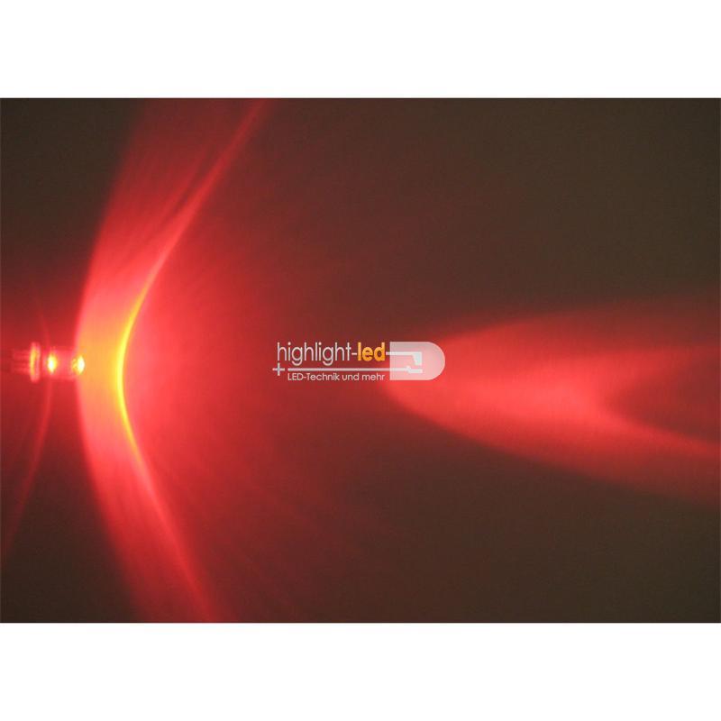 "10 LEDs 5mm wasserklar rot Typ ""WTN-5-600r"""
