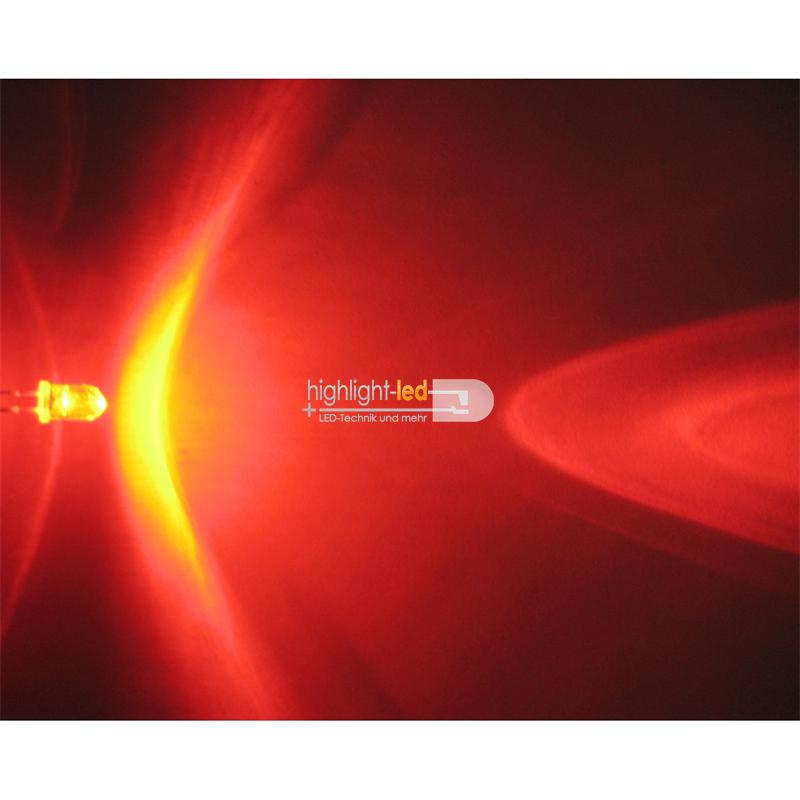 "20 LED 5mm crystal clear, red ""WTN-5-6000r"""