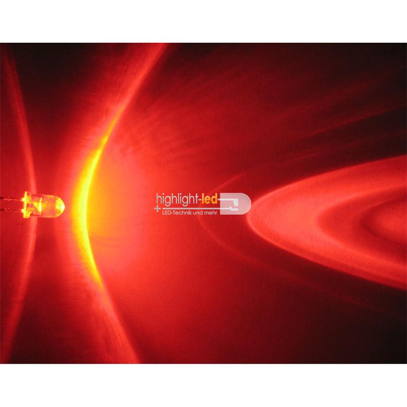 "20 LEDs 5mm wasserklar rot Typ ""WTN-5-12000r"""