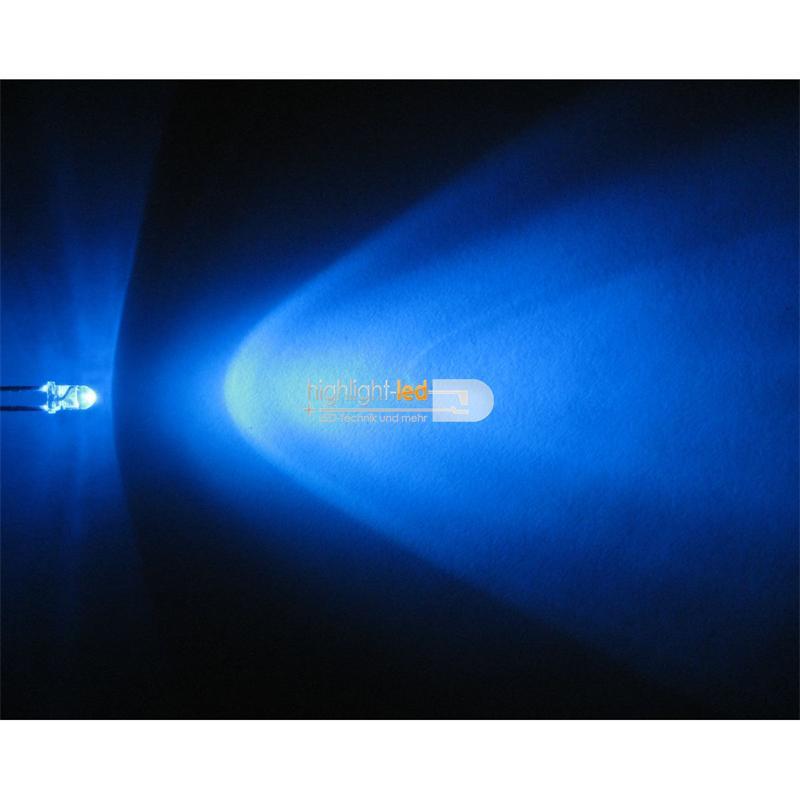 "20 LEDs 3mm wasserklar blau Typ ""WTN-3-7000b"""
