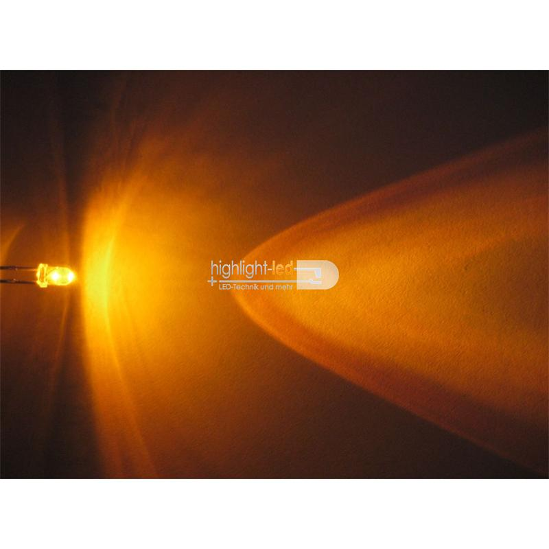 """20 LEDs 3mm wasserklar gelb Typ """"WTN-3-5000ge"""""""