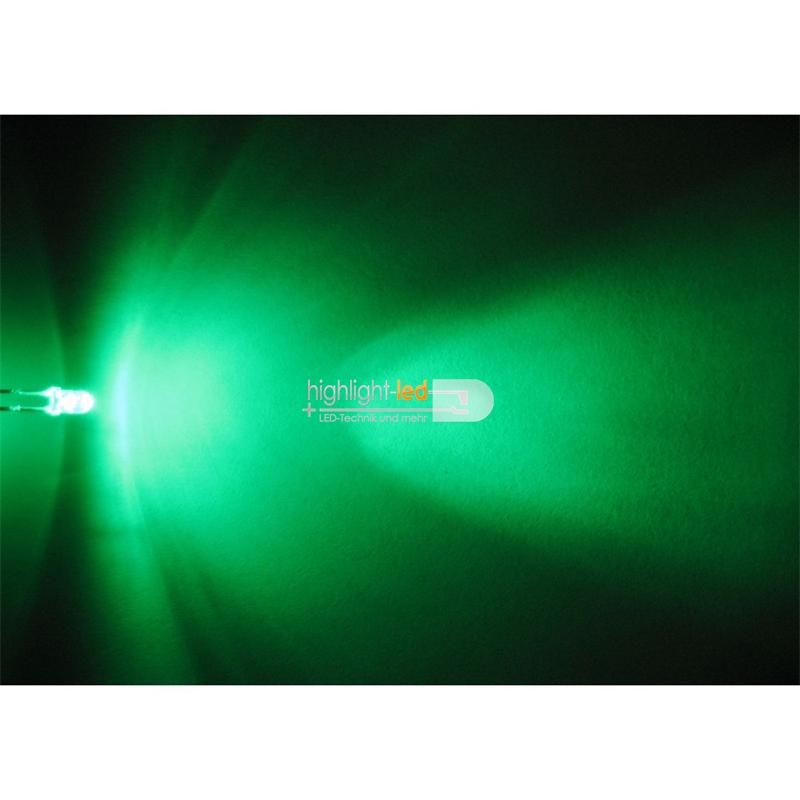 "20 LED 3mm crystal clear, green "" WTN-3-11000gr"""
