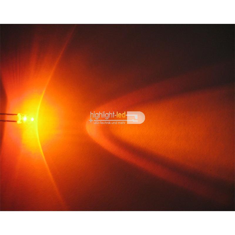 "20 LEDs 3mm wasserklar orange Typ ""WTN-3-5000o"""