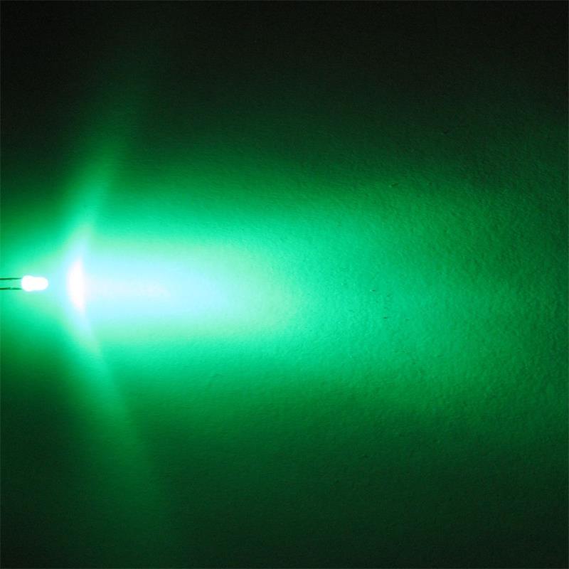 "10 LEDs 3mm diffus grün Typ ""WTN-3-2700gr"""