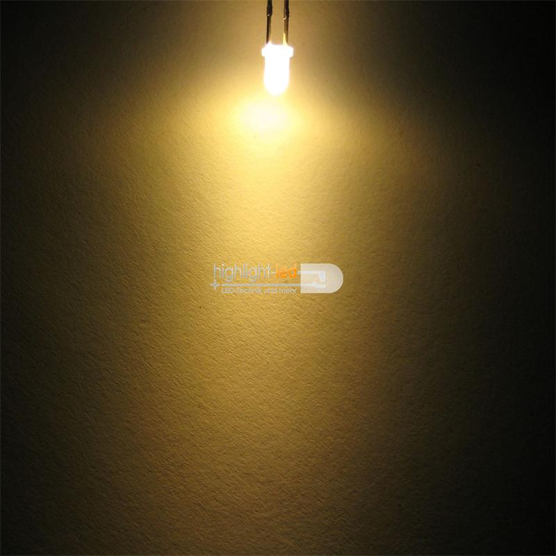 "10 LEDs 3mm diffus warm-weiß Typ ""WTN-3-2900ww"""