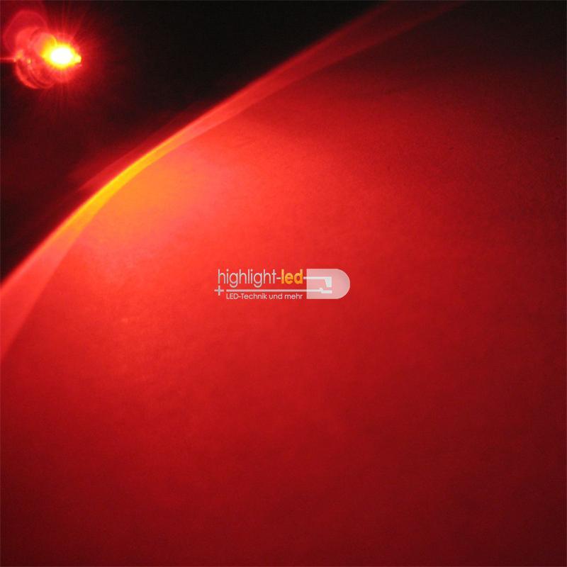"10 LED 4,8mm rot Flachkopf Typ ""WTN-48-1600r"" red"