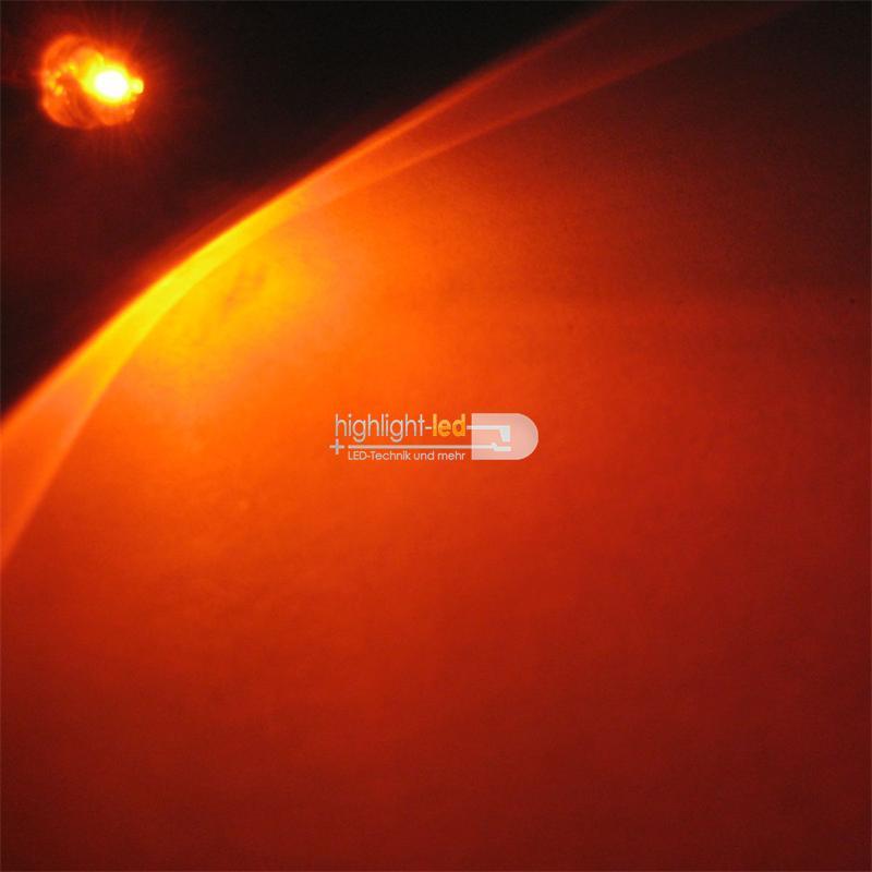 "10 LED 4,8mm orange Flachkopf Typ ""WTN-48-1000o"""