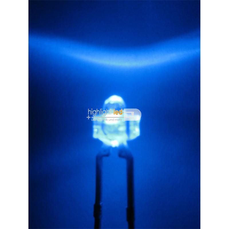 """10 LED 1,8mm wasserklar blau Typ """"WTN-18-2500-b"""""""