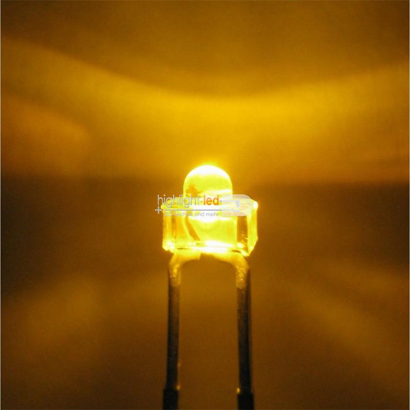 """10 LED 1,8mm wasserklar gelb Typ """"WTN-18-2000"""""""