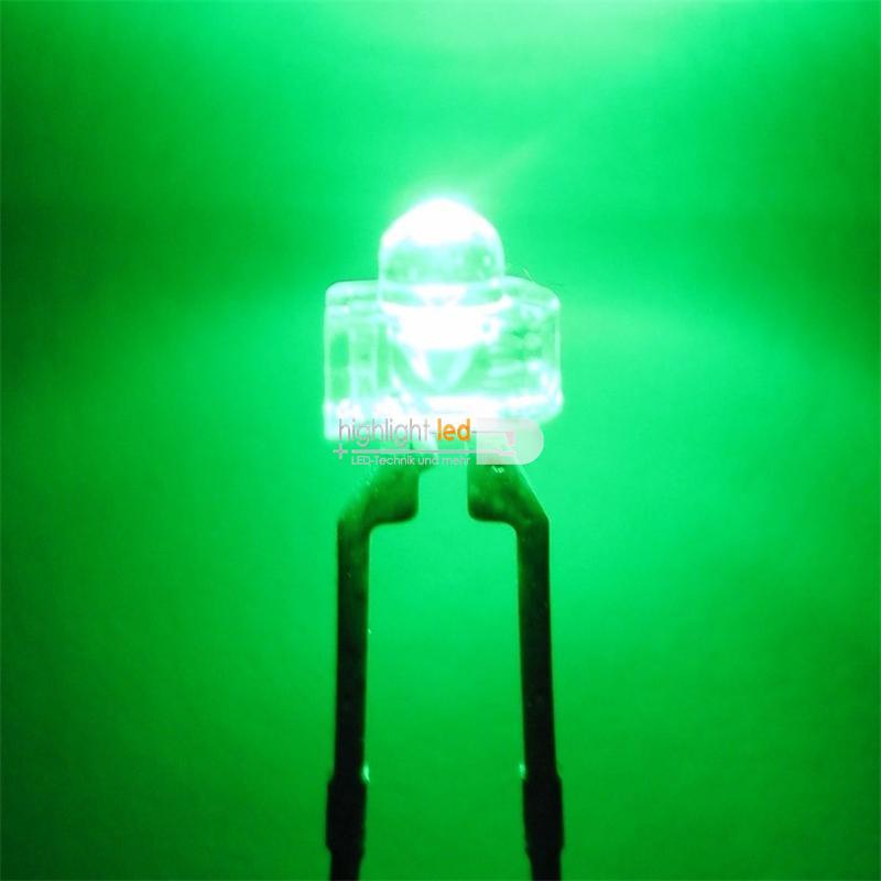 """10 LED 1,8mm wasserklar grün Typ """"WTN-18-4500-g"""""""