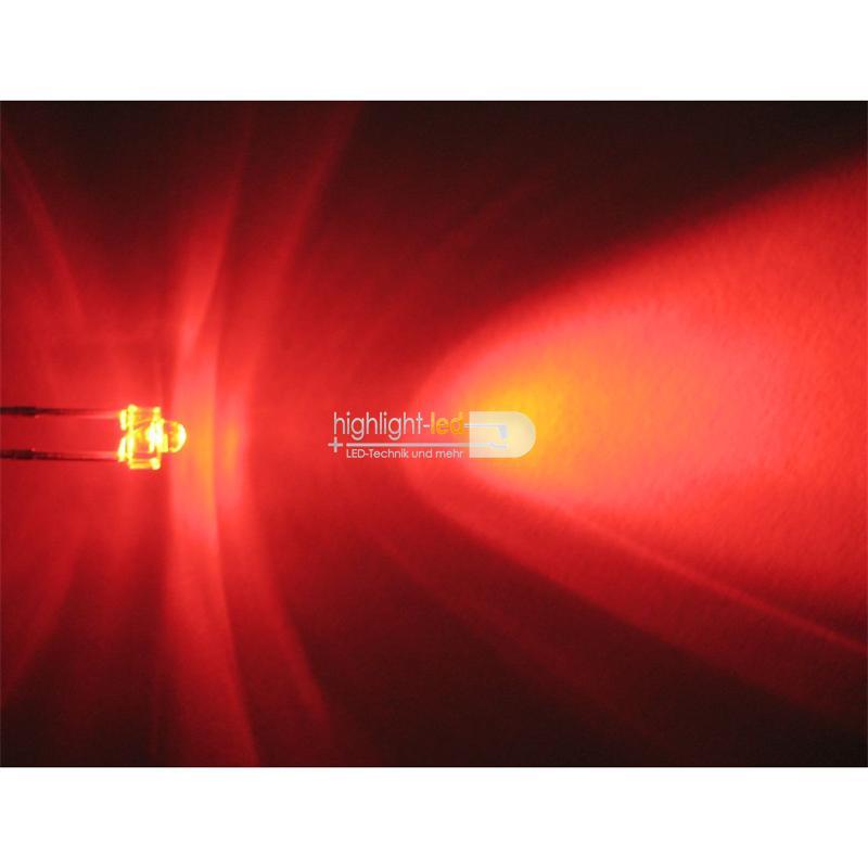 "10 LED 1,8mm wasserklar rot Typ ""WTN-18-2500-r"""