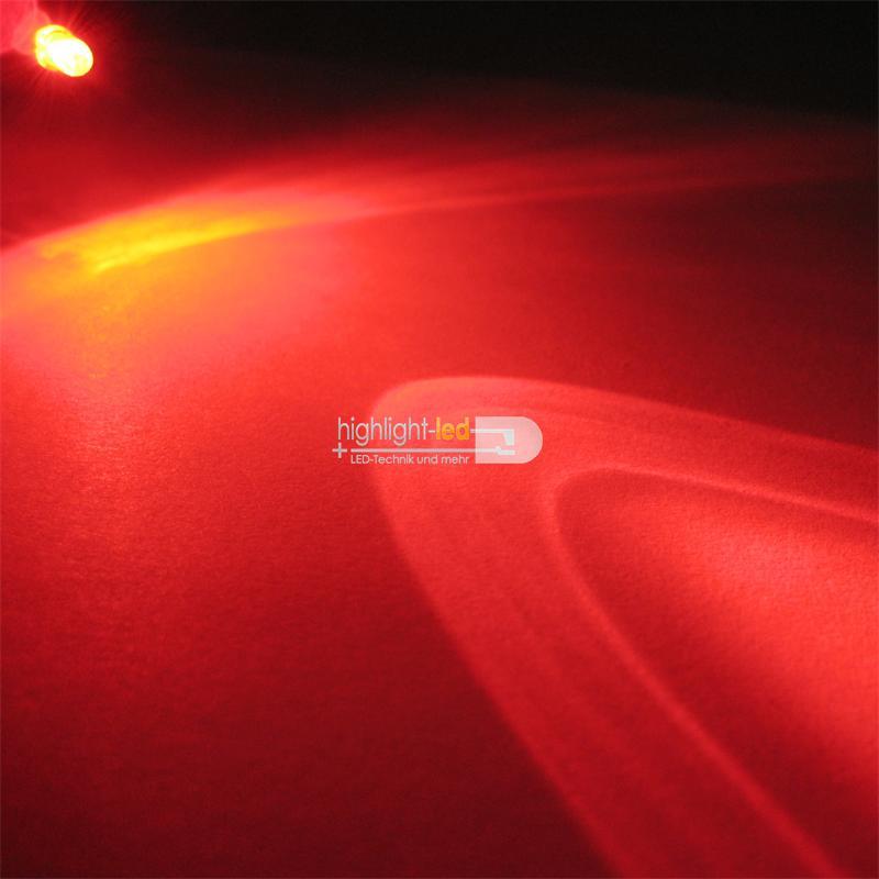10 LEDs 3mm wasserklar blinkend rot LED-SET