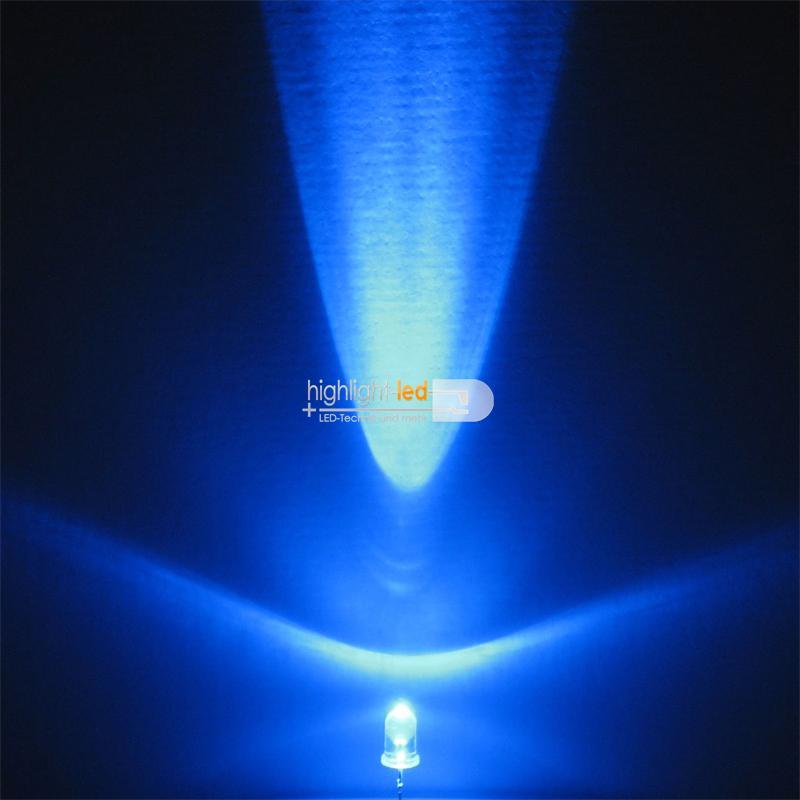 10 LEDs 5mm wasserklar blinkend blau SET