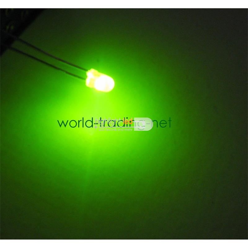 10 LED bi pole 3mm diffused red/green DUO LED set