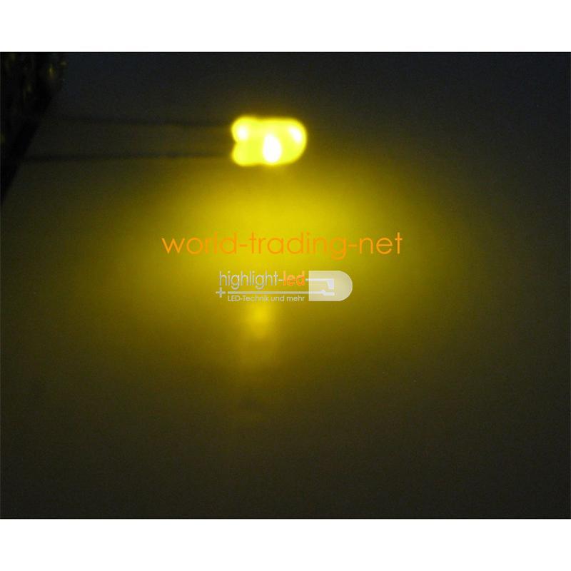 10 LED Bi-Pol 3mm diffus Grün / Gelb - DUO-LED Set