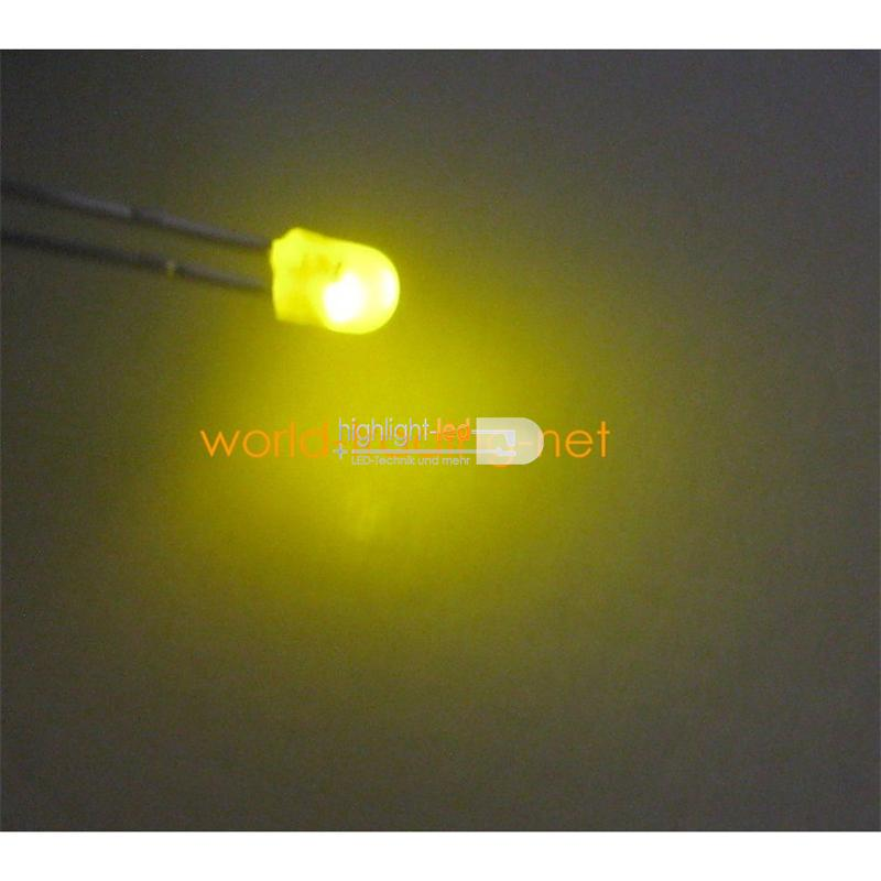 10 LED 3mm diffus blinkend gelb