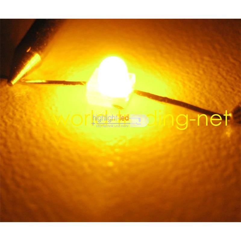 """10 LED 1,9mm diffus gelb axial Typ """"WTN-19-10ge"""""""