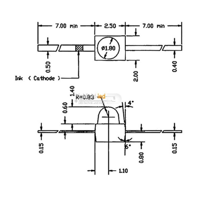 """10 LED 1,9mm diffus grün axial Typ """"WTN-19-10gr"""""""