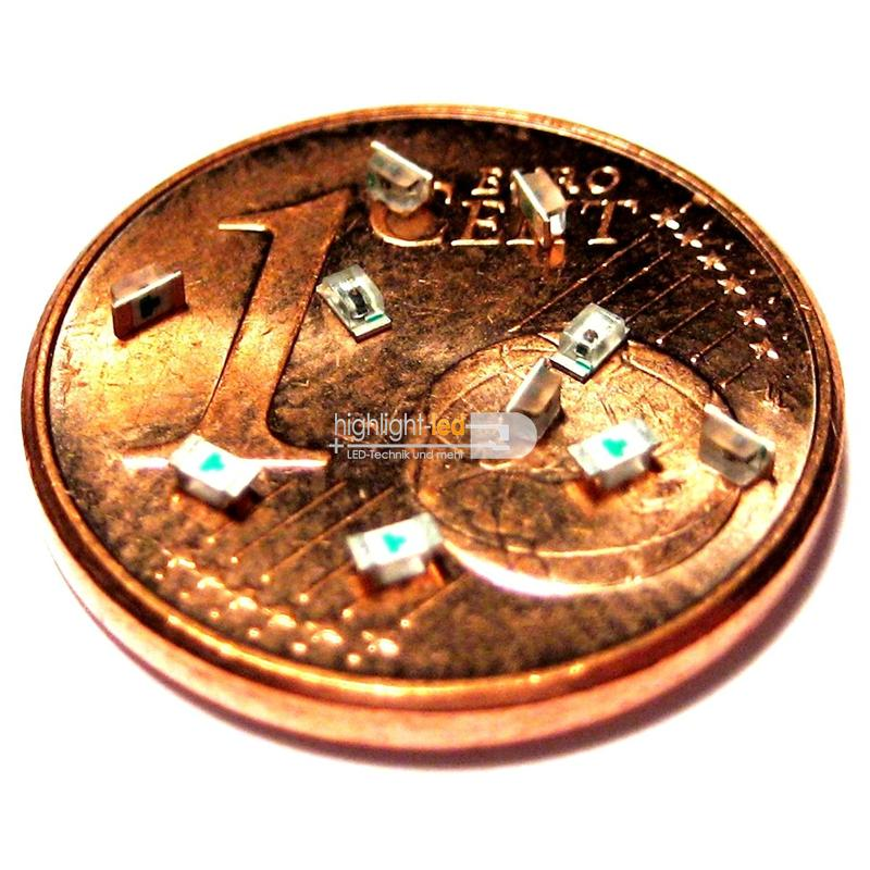 "10 SMD LEDs 0603 - white ""WTN-0603-300ww"""