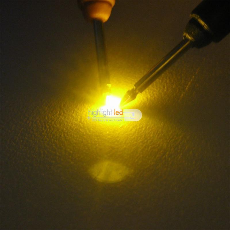 """10 SMD LED 0603 GELB Typ """"WTN-0603-120ge"""" gelbe"""