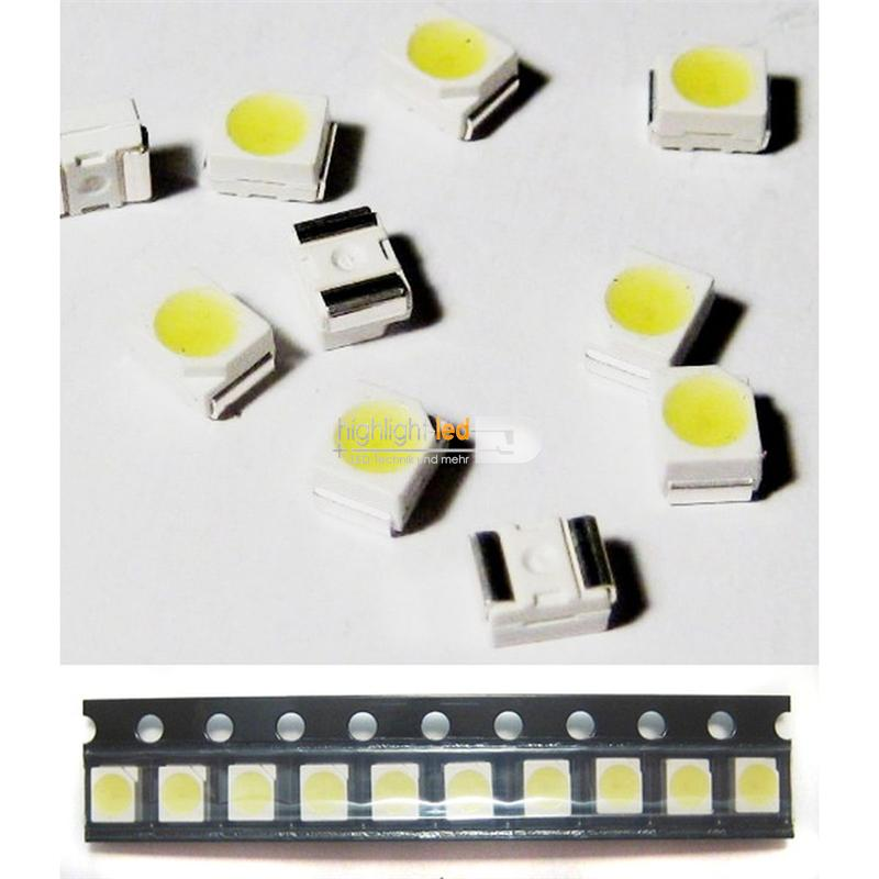 "10 SMD LED 3528 warmweiß Typ ""WTN-PLCC2-1100ww"""