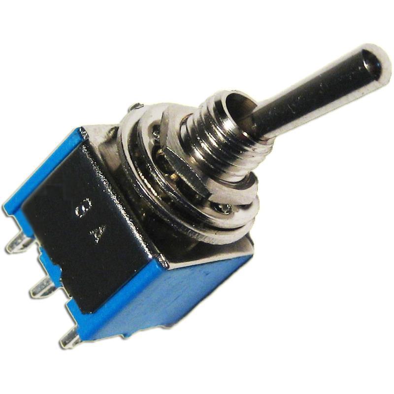 Miniatur Kippschalter mit Lötösen | 2-polig, 125V/3A