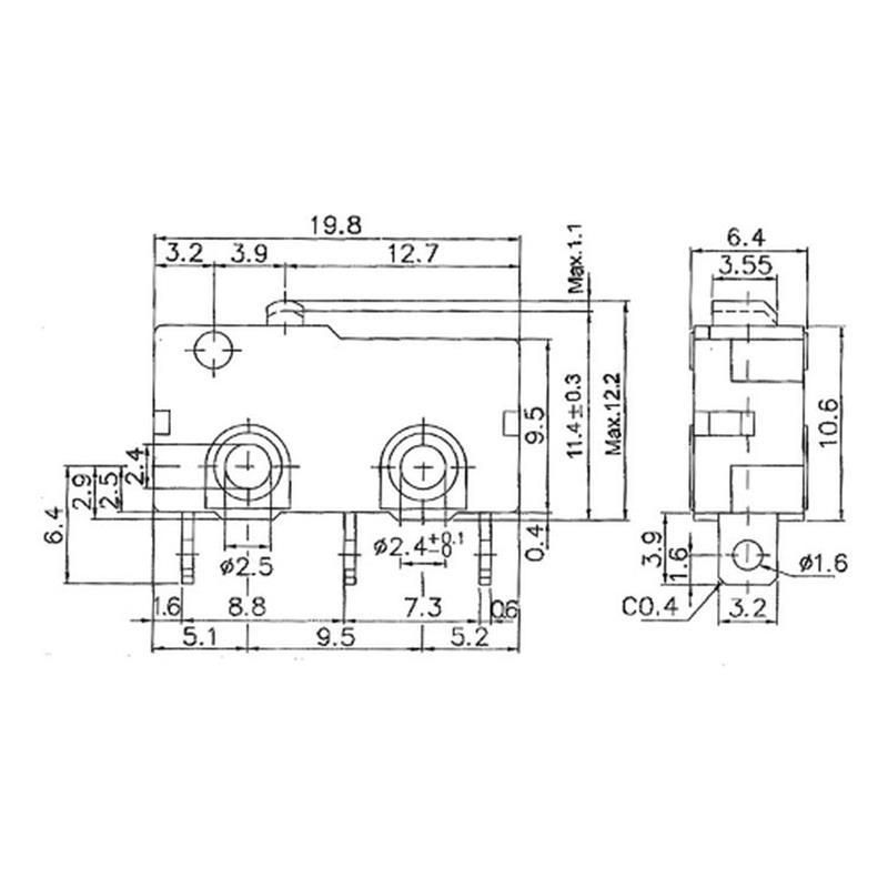 Microschalter/Taster Standard 5A-125 VAC