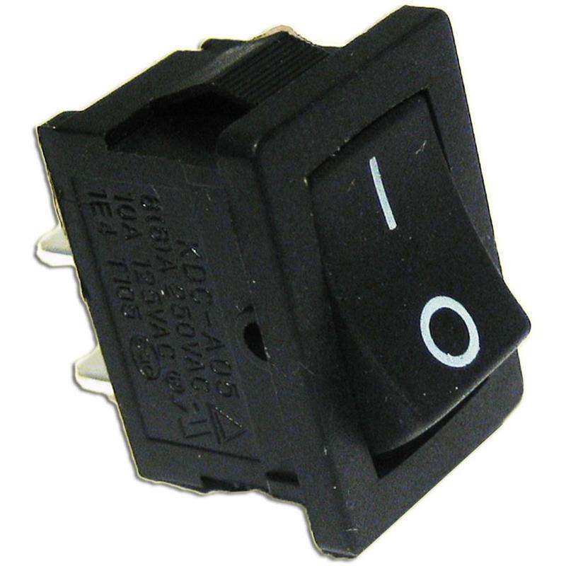 Wippenschalter 1-polig EIN/AUS 250V/3A eckig