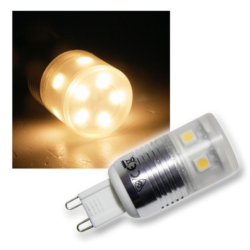 led leuchtmittel g9 11x 3chip smd leds warmwei. Black Bedroom Furniture Sets. Home Design Ideas