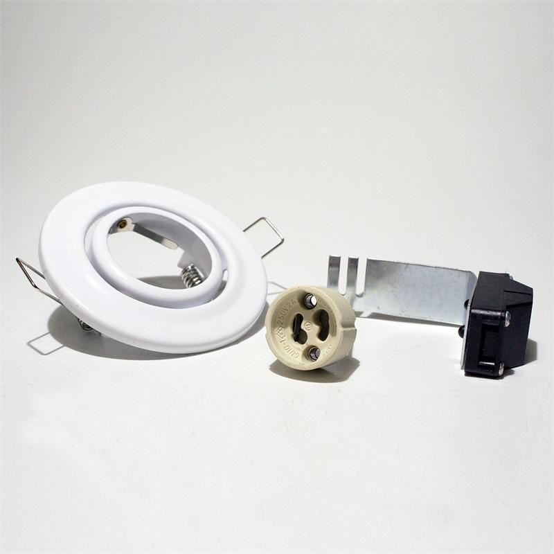 Decken-Einbauleuchte Weiß GU10, schwenkbar, 230V