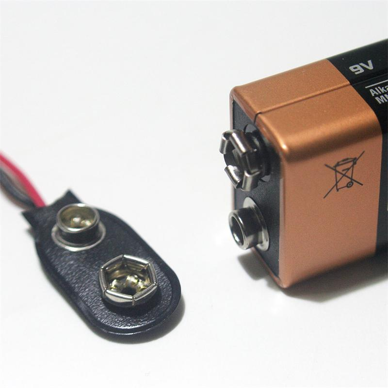 Batterieclip für 9-V Blöcke , I-Form, Kunststoff