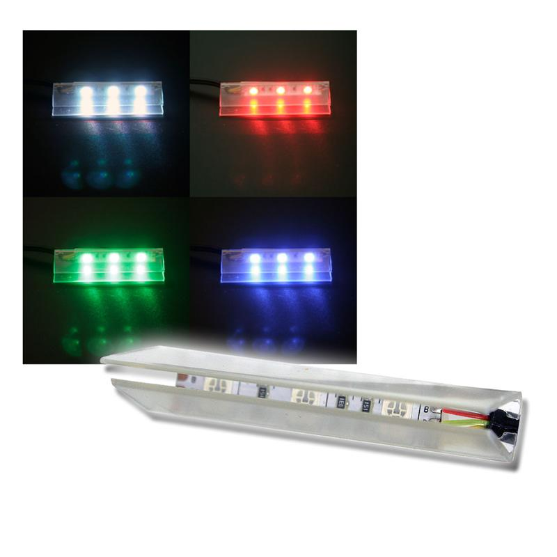 4er SET LED Glasbodenbeleuchtung 66mm RGB