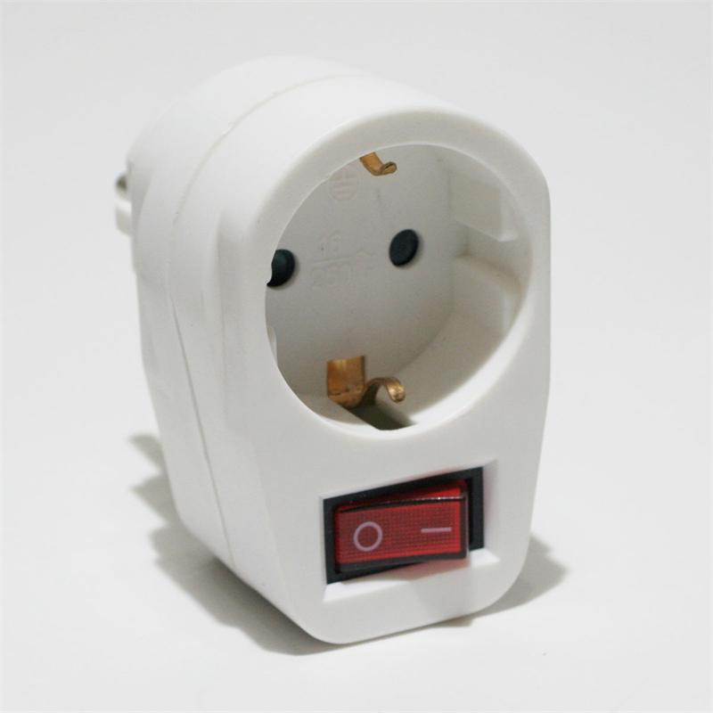Steckdosen-Schalter, 230V max. 3500 Watt, weiß