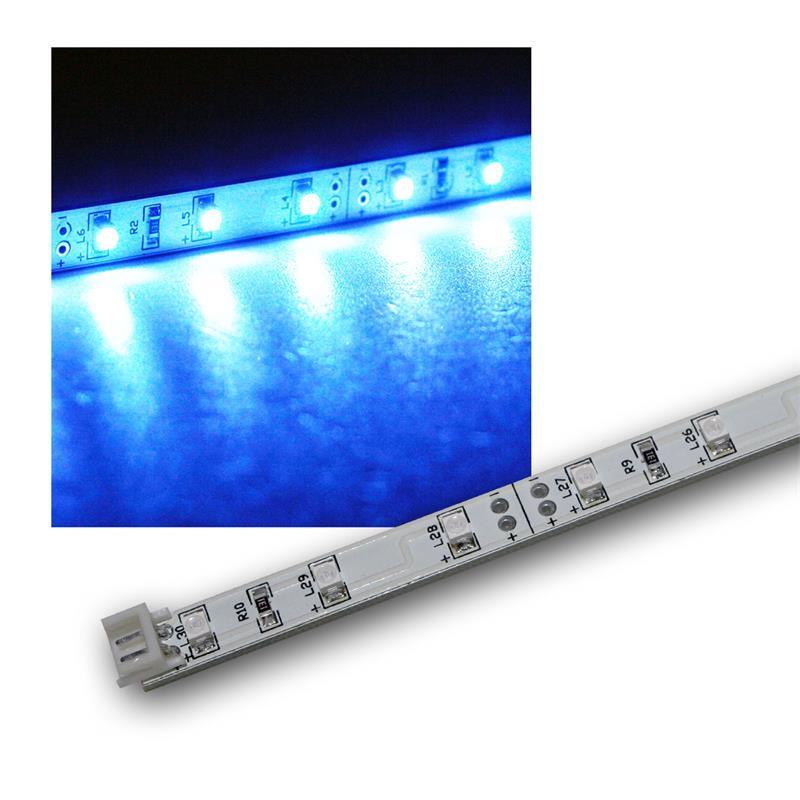 smd led leiste blau 12v dc 48cm steckbar indoor. Black Bedroom Furniture Sets. Home Design Ideas