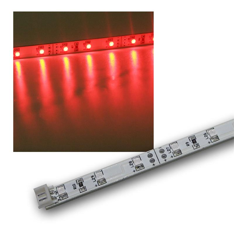 smd led leiste rot 12v dc 48cm steckbar indoor. Black Bedroom Furniture Sets. Home Design Ideas