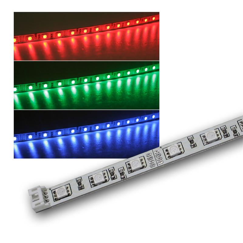 smd led leiste rgb 12v dc 57cm steckbar indoor. Black Bedroom Furniture Sets. Home Design Ideas