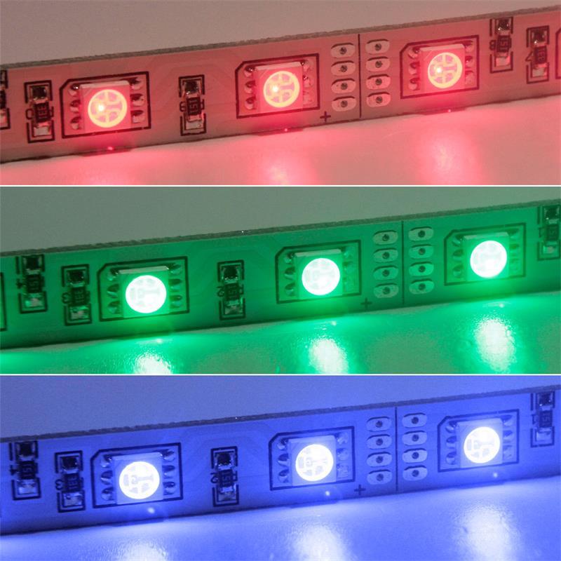 SMD LED Leiste RGB 12V DC 57cm steckbar indoor