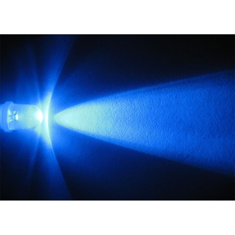 10 Stück LED-Schraubsockel Birne BLAU 12V DC - E10