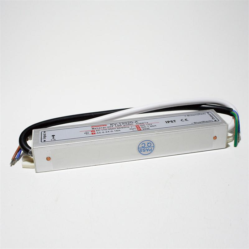LED transformer 20W Driver, 12V DC, IP67, trafo