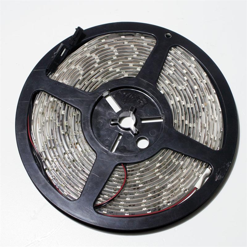 SMD Stripe LED 12V warm white IP44 PCB-white 5m