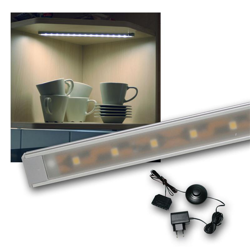 "Set LED Lichtleiste 4 x ""WTN-Flat 28cm"" kalt-weiß"