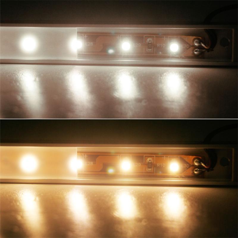 Set LED Lichtleisten WTN-FLAT | warm-/ kaltweiß | 28/50cm