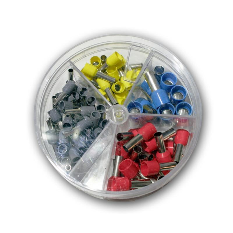 Assorted Wire Ferrules in Shaker Insulated for 4 - 16 Mm ² Braid Set ...